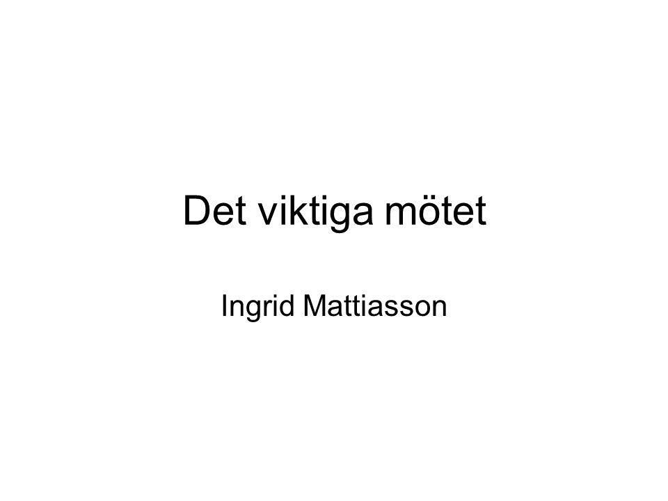 Det viktiga mötet Ingrid Mattiasson