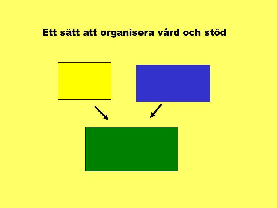 Ett sätt att organisera vård och stöd