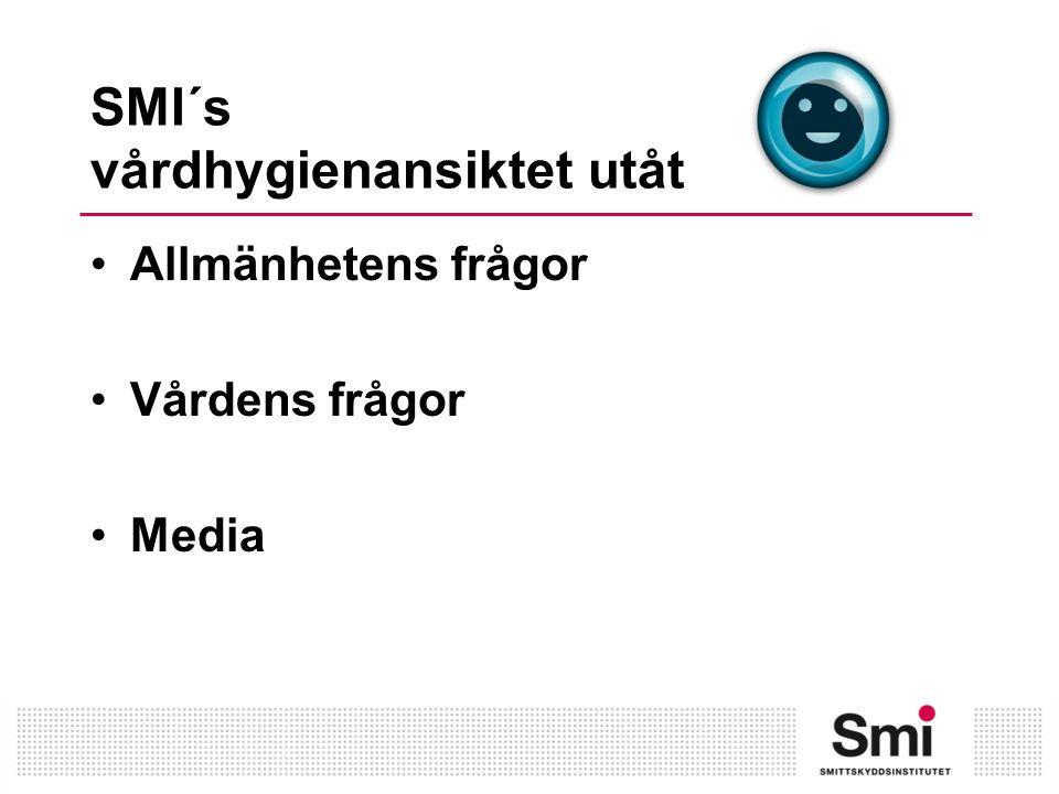 Samverkan och samarbete SMI ECDC SoS SKL FHISSI SVA SFVH Vårdhygienenheter