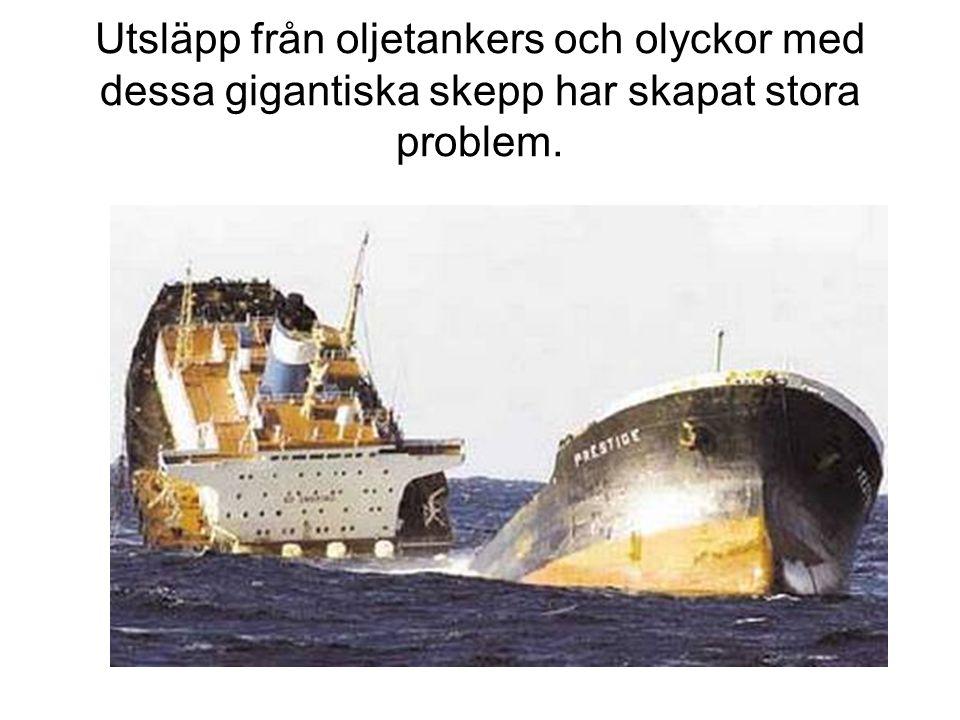 Utsläpp från oljetankers och olyckor med dessa gigantiska skepp har skapat stora problem.