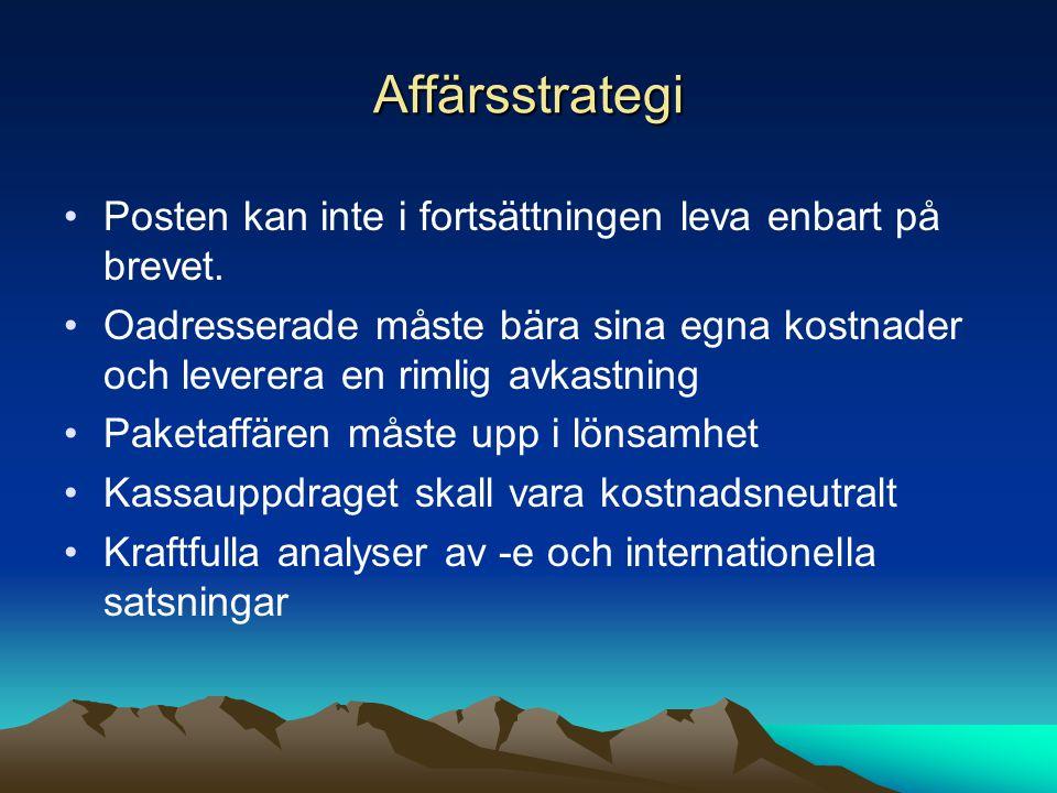 Affärsstrategi Posten kan inte i fortsättningen leva enbart på brevet.