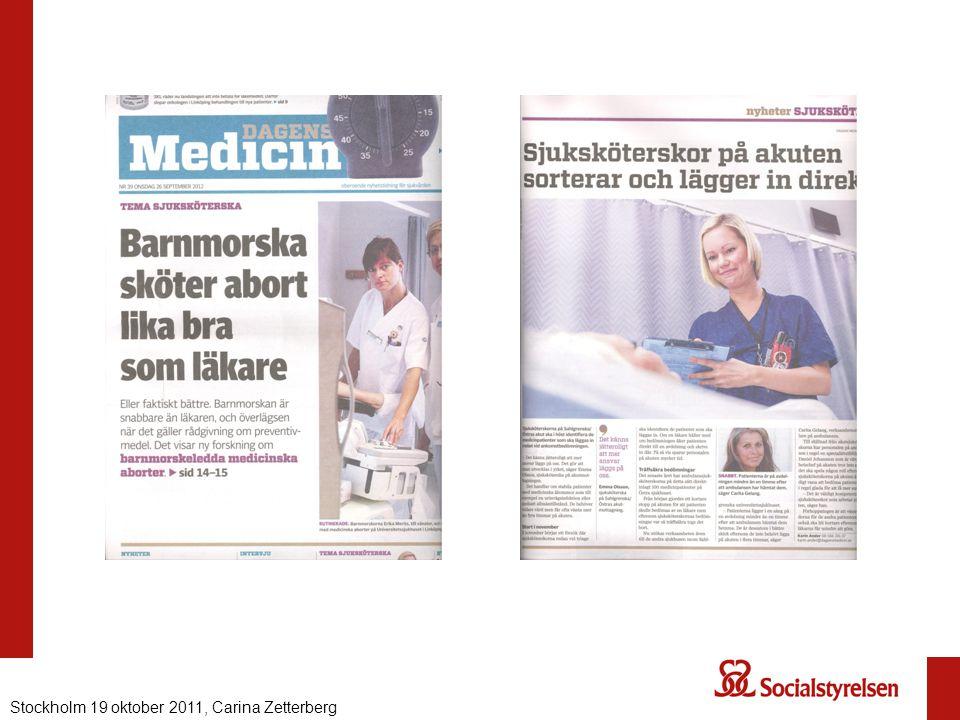 Nationell eHälsa 2012, Carina ZetterbergStockholm 19 oktober 2011, Carina Zetterberg