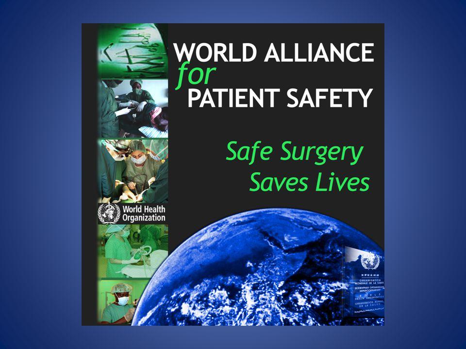 Result – Samtliga deltagare UtgångsvärdeChecklistanP-värde Antal patienter 37333955- Mortalitet 1.5 %0.8 %0.003 Komplikationer (samtliga) 11.0 %7.0 %<0.001 Kirurgiska infektioner 6.2 %3.4 %<0.001 Oplanerade reoperationer 2.4 %1.8 %0.047 Haynes et al.