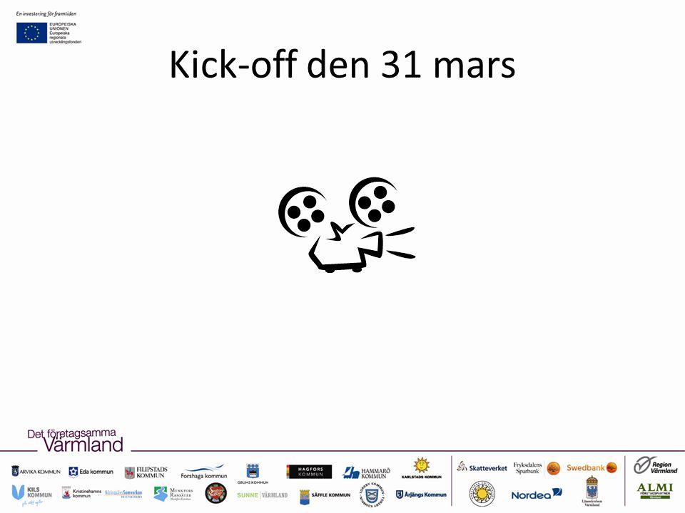 Kick-off den 31 mars