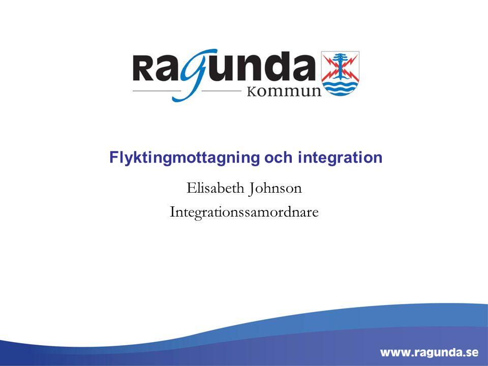 Flyktingmottagning och integration Elisabeth Johnson Integrationssamordnare