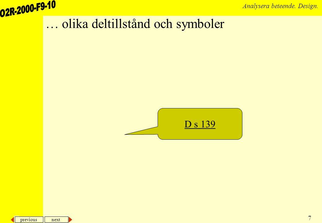 previous next 38 Analysera beteende.Design.