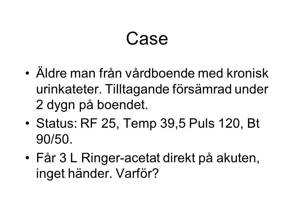 Påstående nr 8 Sant eller falskt? Alla patienter med få undantag klarar en bolus på 300 ml vätska I.V utan att få lungödem.