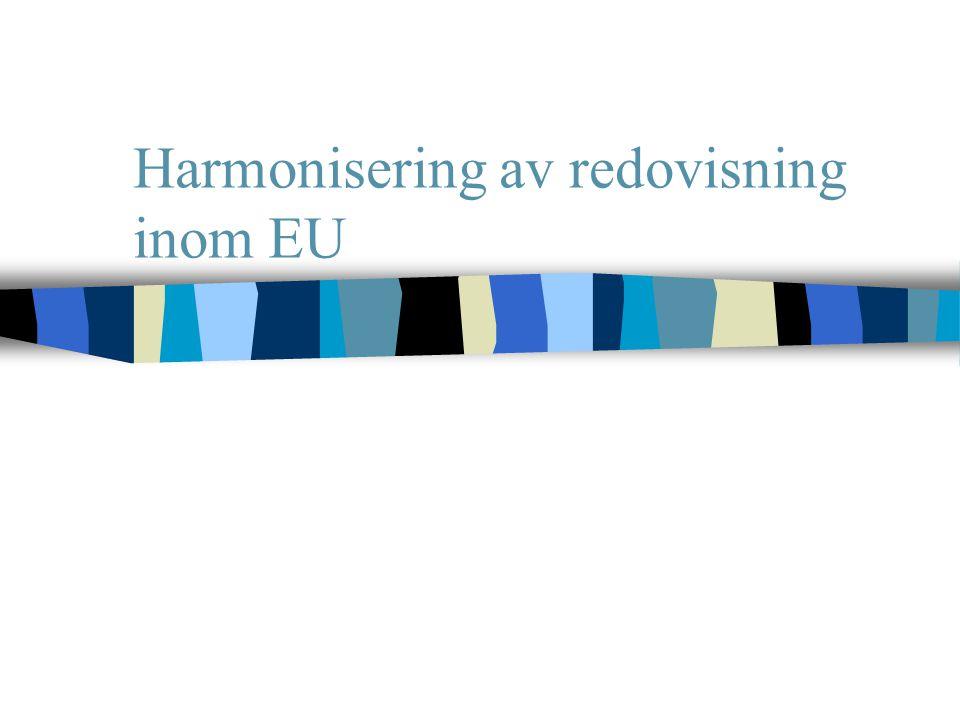 Harmonisering av redovisning inom EU