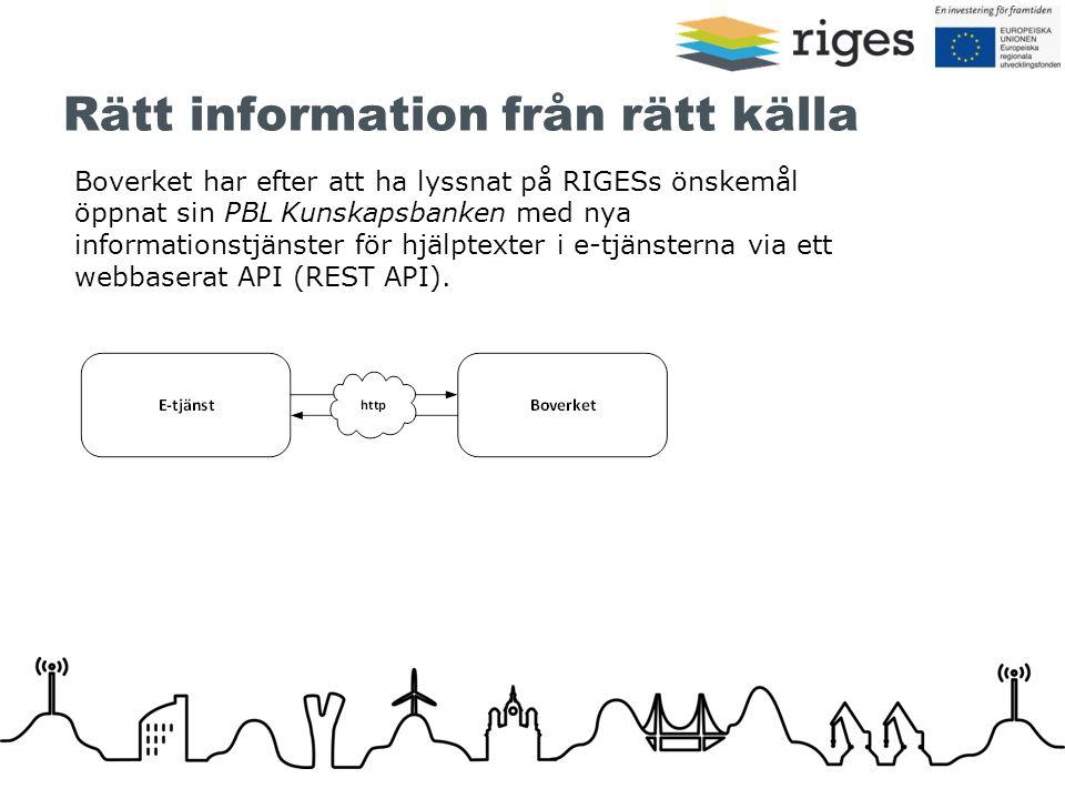 Rätt information från rätt källa Boverket har efter att ha lyssnat på RIGESs önskemål öppnat sin PBL Kunskapsbanken med nya informationstjänster för h