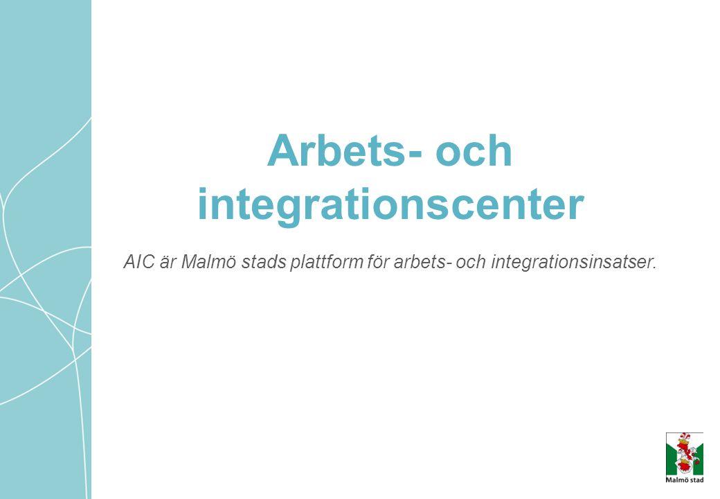 AIC är Malmö stads plattform för arbets- och integrationsinsatser. Arbets- och integrationscenter