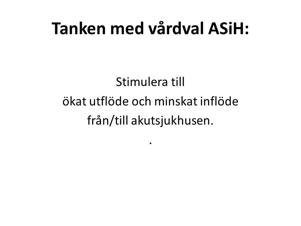 Tanken med vårdval ASiH: Stimulera till ökat utflöde och minskat inflöde från/till akutsjukhusen..