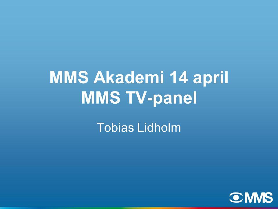 MMS Akademi 14 april MMS TV-panel Tobias Lidholm