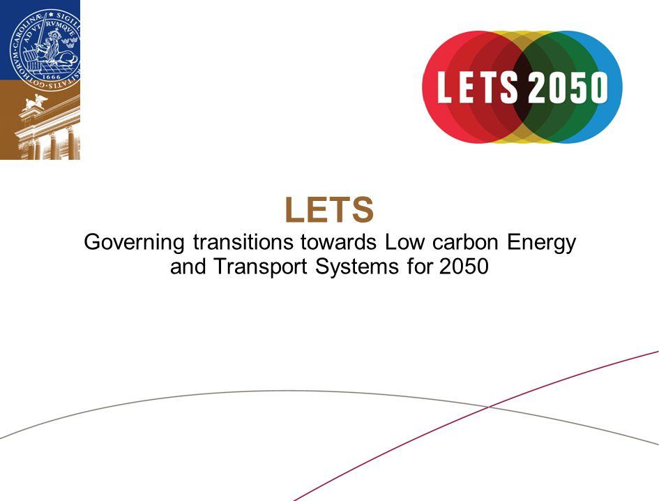Lunds universitet / Fakultet / Institution / Enhet / Dokument / Datum WP2 Analysera hur regional planering och förändringar i infrastrukturen kan komma att minska CO 2 -utsläppen.