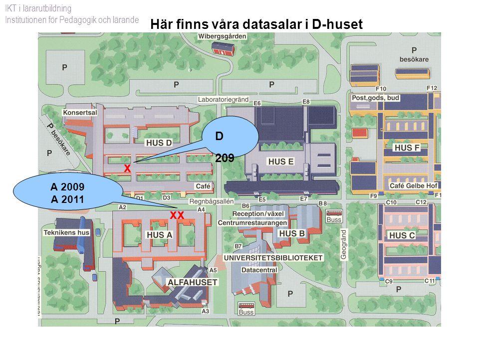 IT-tjänster och support för studenter IKT i lärarutbildning Institutionen för Pedagogik och lärande www.ltu.se/studentwebben/it/ Se även: