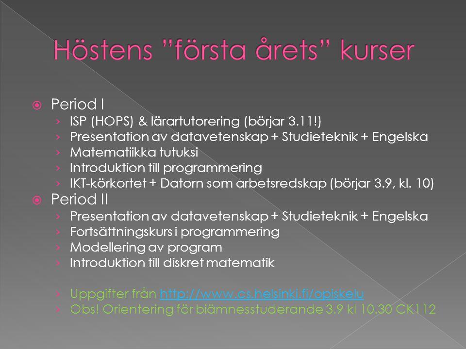  Period I › ISP (HOPS) & lärartutorering (börjar 3.11!) › Presentation av datavetenskap + Studieteknik + Engelska › Matematiikka tutuksi › Introdukti