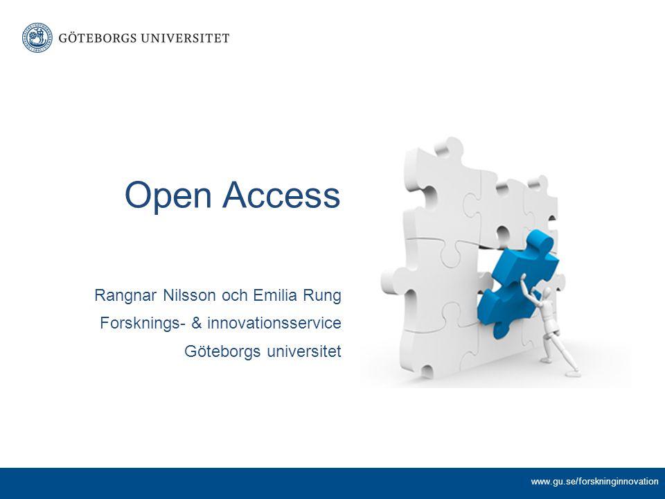 Ett sextiotal forskningsfinansiärer har någon form av krav på Open Access, bl.a.