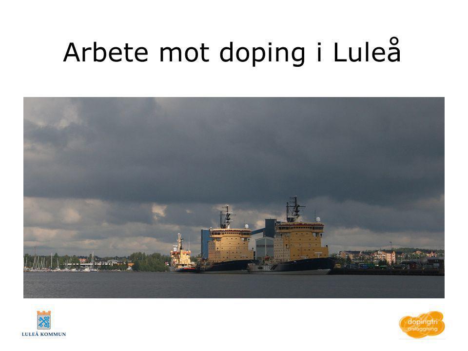 Arbete mot doping i Luleå