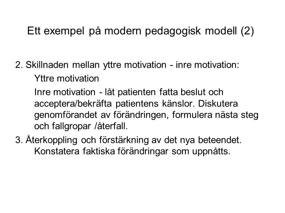 Ett exempel på modern pedagogisk modell (2) 2.
