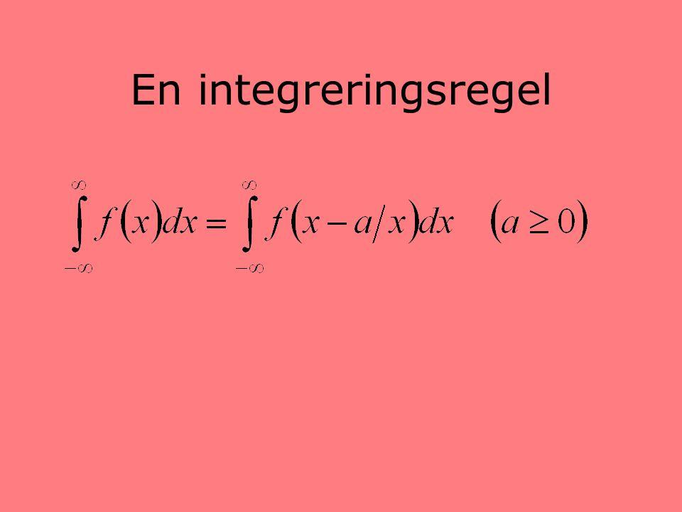 En integreringsregel