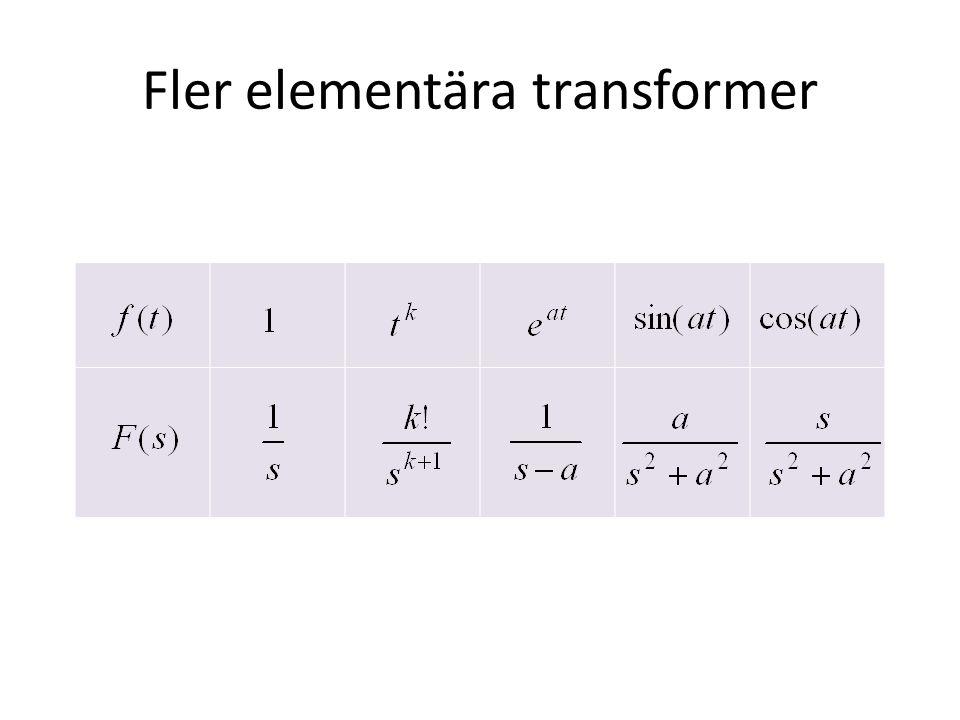 Lösning av ODE med impulsfunktion Ex.