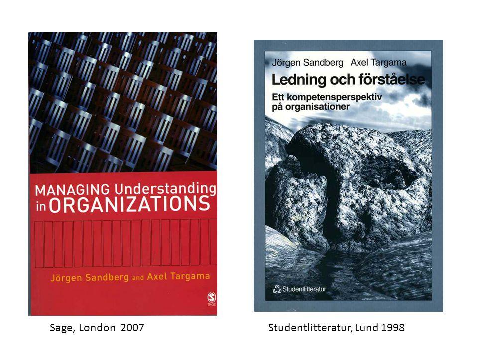 Sage, London 2007Studentlitteratur, Lund 1998