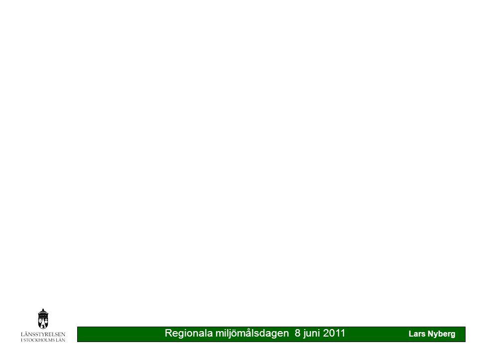 Regionala miljömålsdagen 8 juni 2011 Lars Nyberg