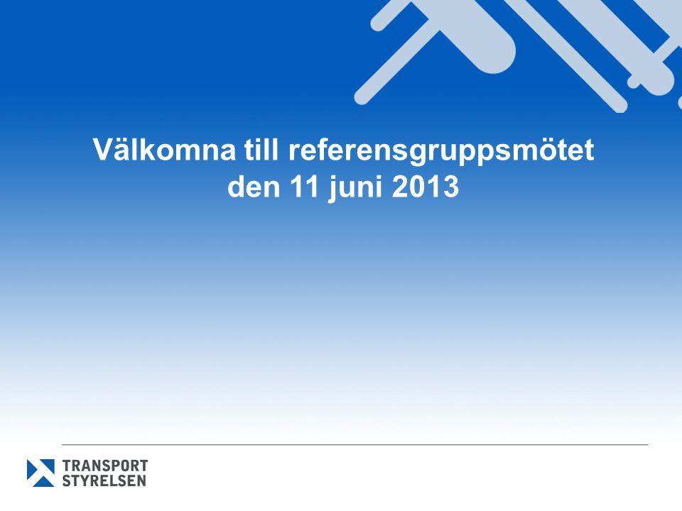 Välkomna till referensgruppsmötet den 11 juni 2013
