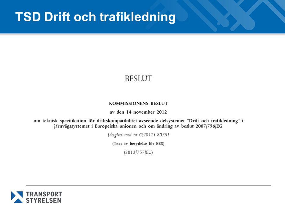 TSD Drift och trafikledning