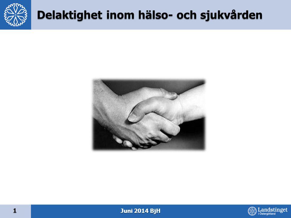 Delaktighet inom hälso- och sjukvården 1 Juni 2014 BjH