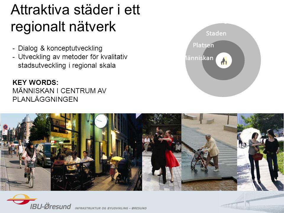 2014-08-2011 Människan Staden Regionen Platsen Attraktiva städer i ett regionalt nätverk -Dialog & konceptutveckling -Utveckling av metoder för kvalit