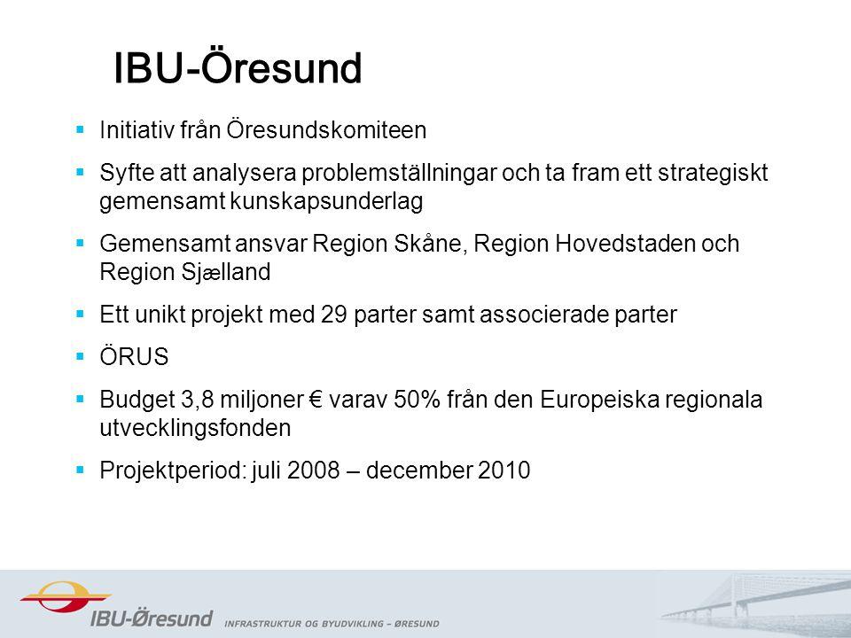 2014-08-202 IBU-Öresund  Initiativ från Öresundskomiteen  Syfte att analysera problemställningar och ta fram ett strategiskt gemensamt kunskapsunder