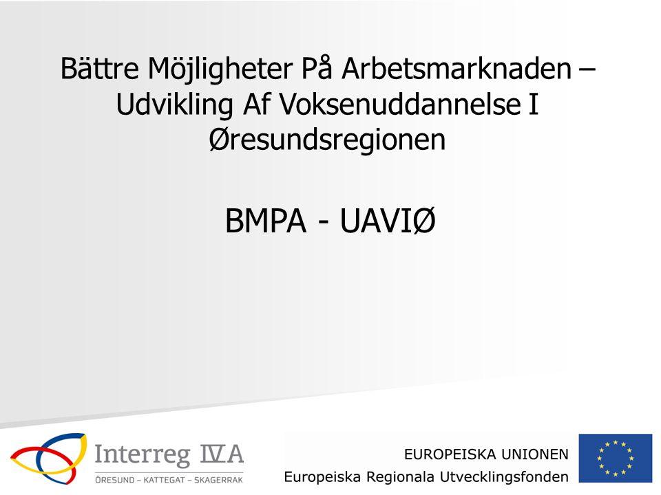 Bättre Möjligheter På Arbetsmarknaden – Udvikling Af Voksenuddannelse I Øresundsregionen BMPA - UAVIØ