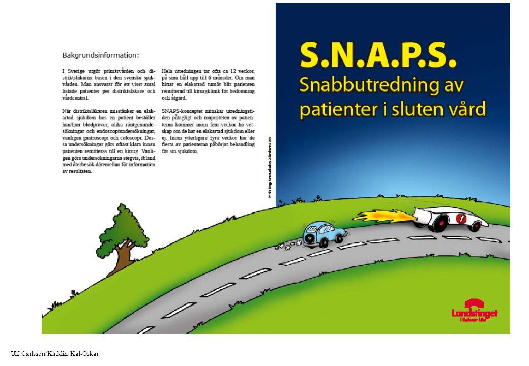 SNABB UTREDNING LEDER OCKSÅ TILL SNABBARE BEHANDLING !! Ulf Carlsson/Kir.klin Kal-Oskar