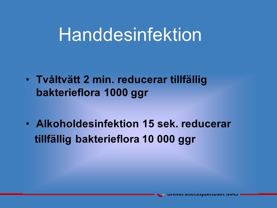 Handdesinfektion Tvåltvätt 2 min.