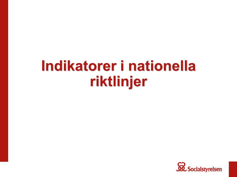 Indikatorer i nationella riktlinjer