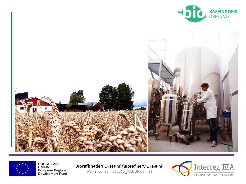 Bioraffinaderi Öresund/Biorefinery Oresund Workshop 23 maj 2013_bild/slide nr. 21