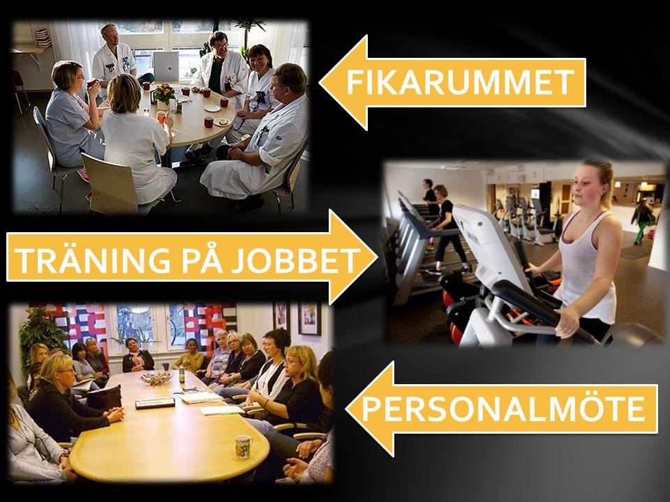 FIKARUMMET TRÄNING PÅ JOBBET PERSONALMÖTE