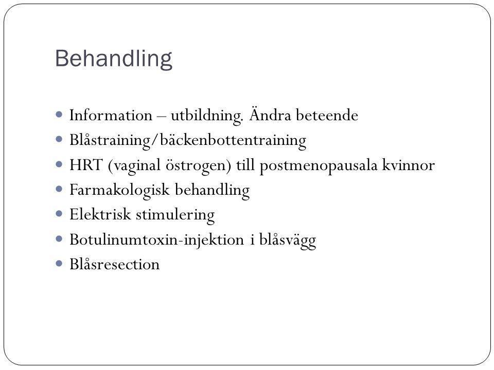 Behandling Information – utbildning.