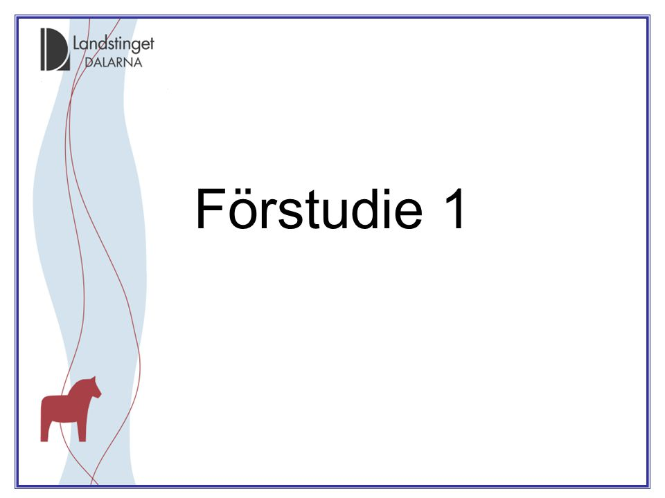 Förstudie 1
