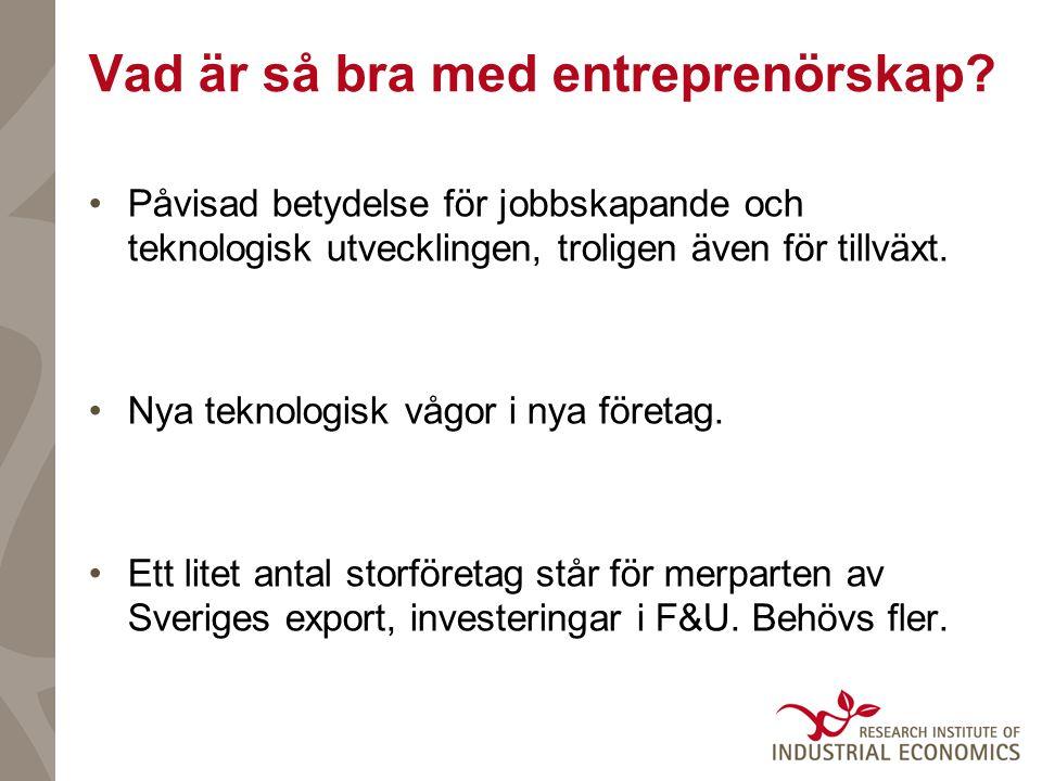 Vad är så bra med entreprenörskap.