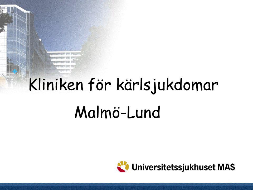 Kliniken för kärlsjukdomar Malmö-Lund