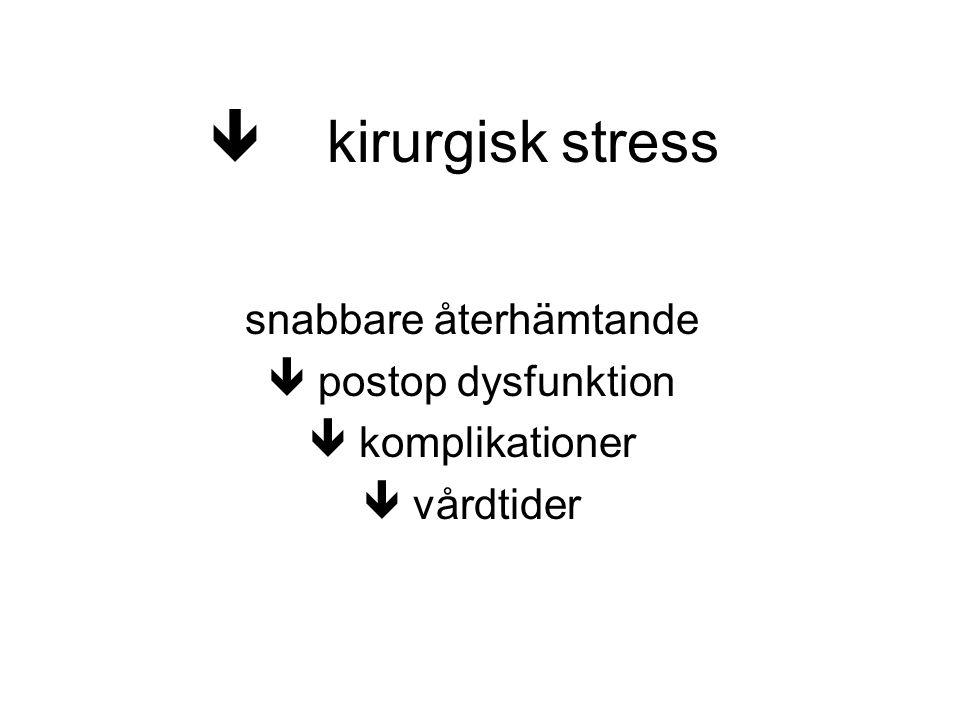  kirurgisk stress snabbare återhämtande  postop dysfunktion  komplikationer  vårdtider