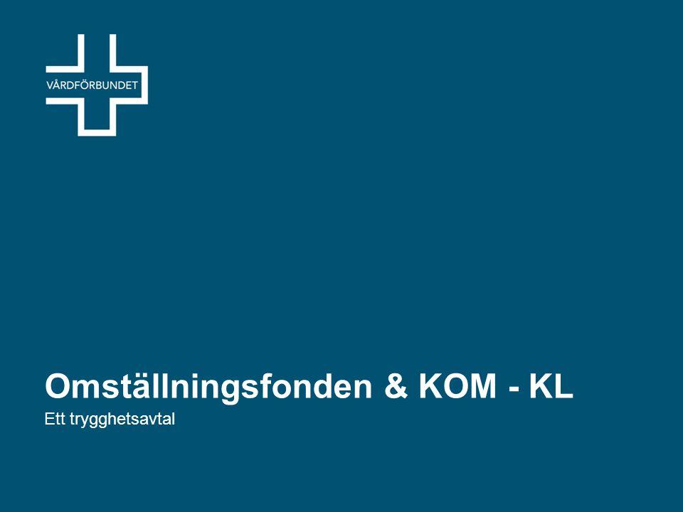Omställningsfonden Grunden KOM-KL avtalet mellan SKL & Packta och Kommunal, OFRs förbundsområden och Akademiker Alliansen.