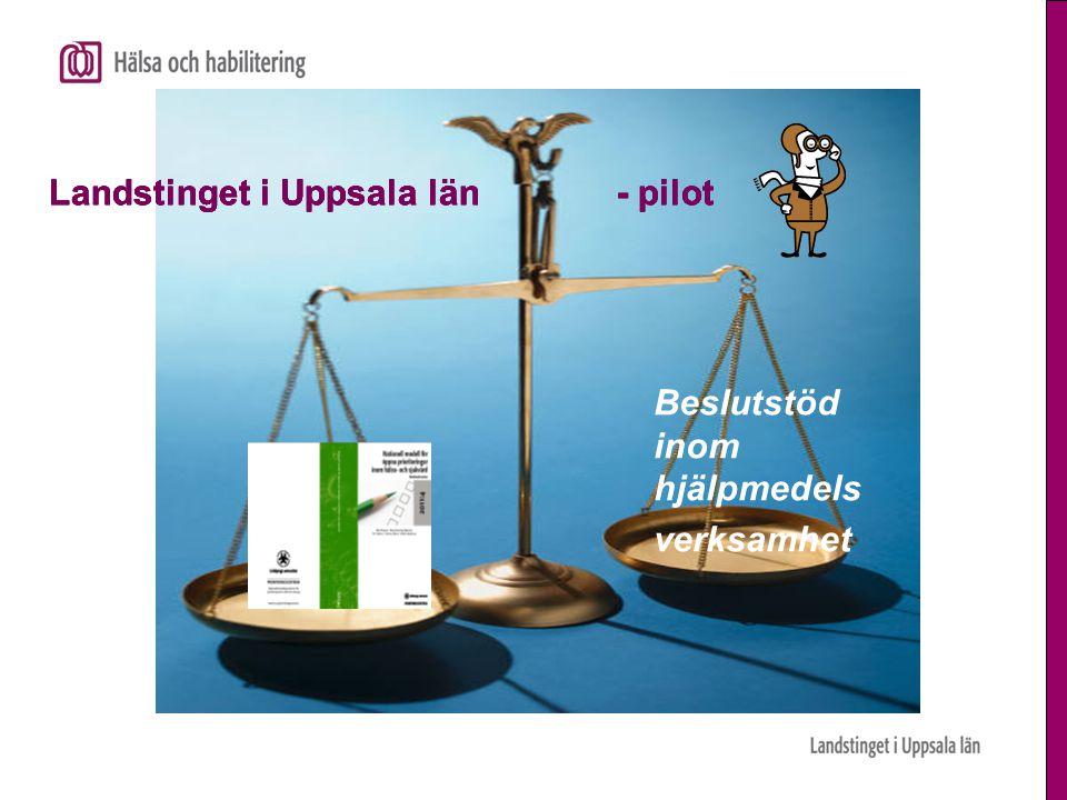 Beslutstöd inom hjälpmedels verksamhet Landstinget i Uppsala län - pilot