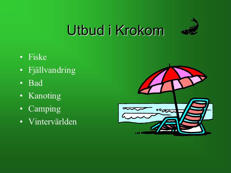 Utbud i Krokom Fiske Fjällvandring Bad Kanoting Camping Vintervärlden