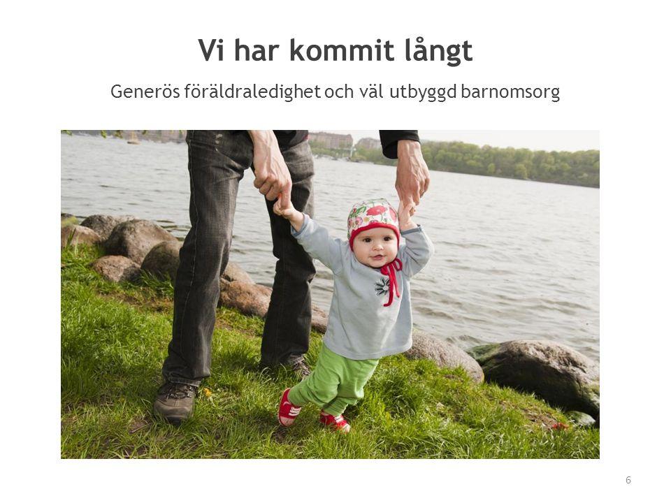 Vi har kommit långt Generös föräldraledighet och väl utbyggd barnomsorg (diagram?) 6