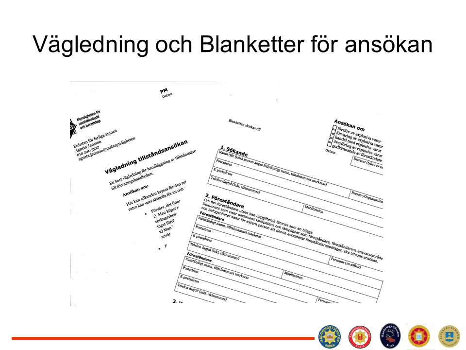 Vägledning och Blanketter för ansökan