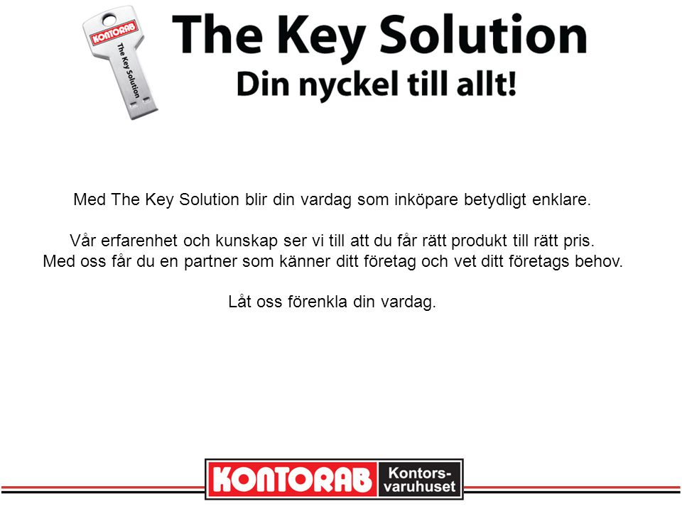 Med The Key Solution blir din vardag som inköpare betydligt enklare.