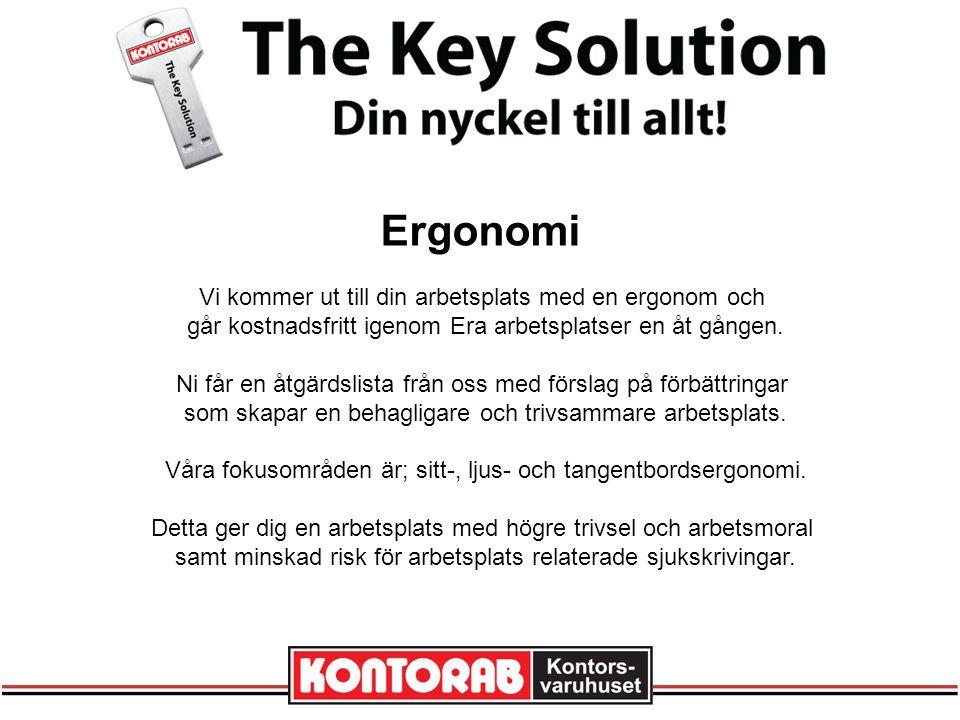 Ergonomi Vi kommer ut till din arbetsplats med en ergonom och går kostnadsfritt igenom Era arbetsplatser en åt gången.