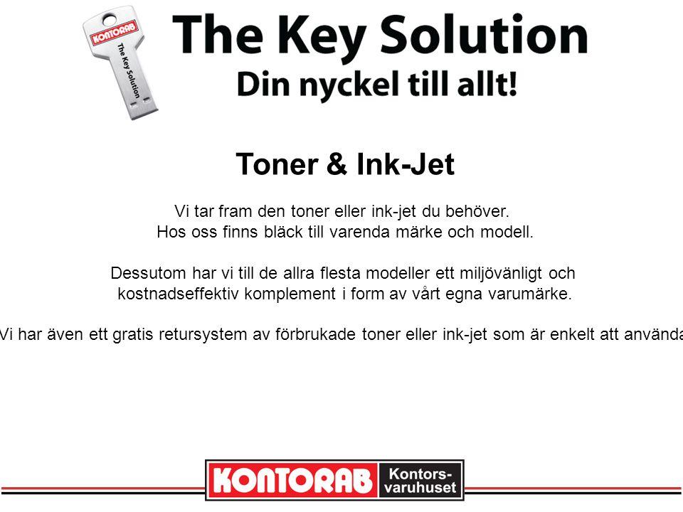 Toner & Ink-Jet Vi tar fram den toner eller ink-jet du behöver.
